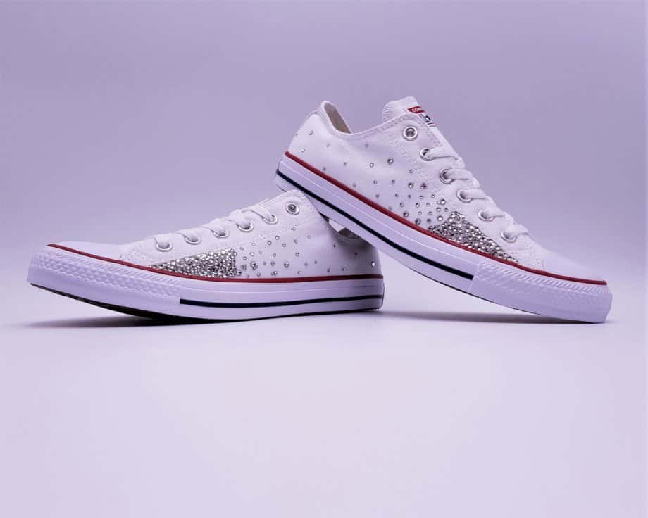 The Converse Swarovski Galaxy, a pair of personalized converse with Swarovski Strass by ATPIK Customs sneakers.
