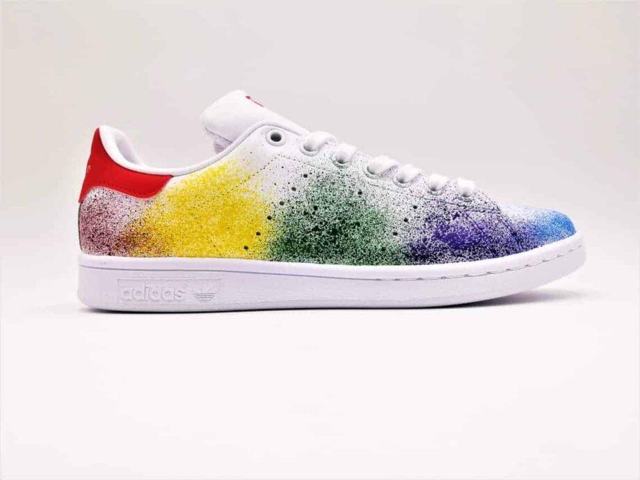 Les Adidas Stan Smith Custom Color Splash