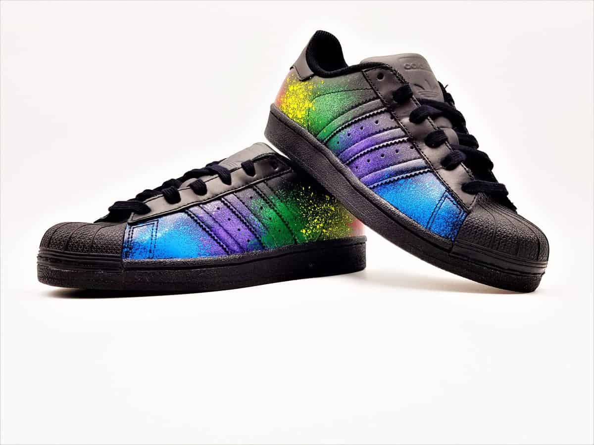 Onwijs Adidas Superstar Color Splash ATPIK Custom Sneakers JH-99