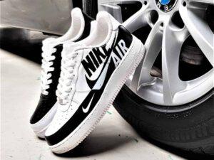 Chaussures customisées nike air force 1 reverse par l'atelier de création de chaussures personnalisées ATPIK