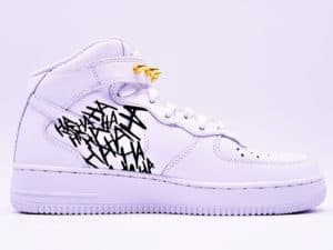 Nike Air Force 1 Batman, jocker customisation par ATPIK custom sneakers