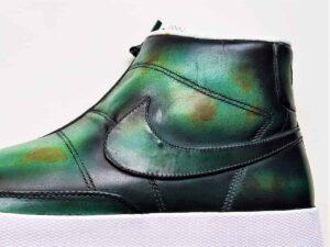Nike Blazer Lab patinée par ATPIK Custom sneakers, votre atelier de personnalisation de chaussures