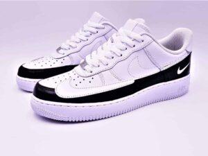 Nike Air force 1 Dual Ton personnalisées par ATPIK custom sneakers.