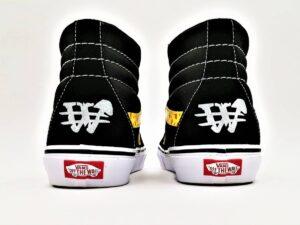 Vans sk8 customisées par ATPIK Custom sneakers, votre atelier de customisation de chaussures en belgique.