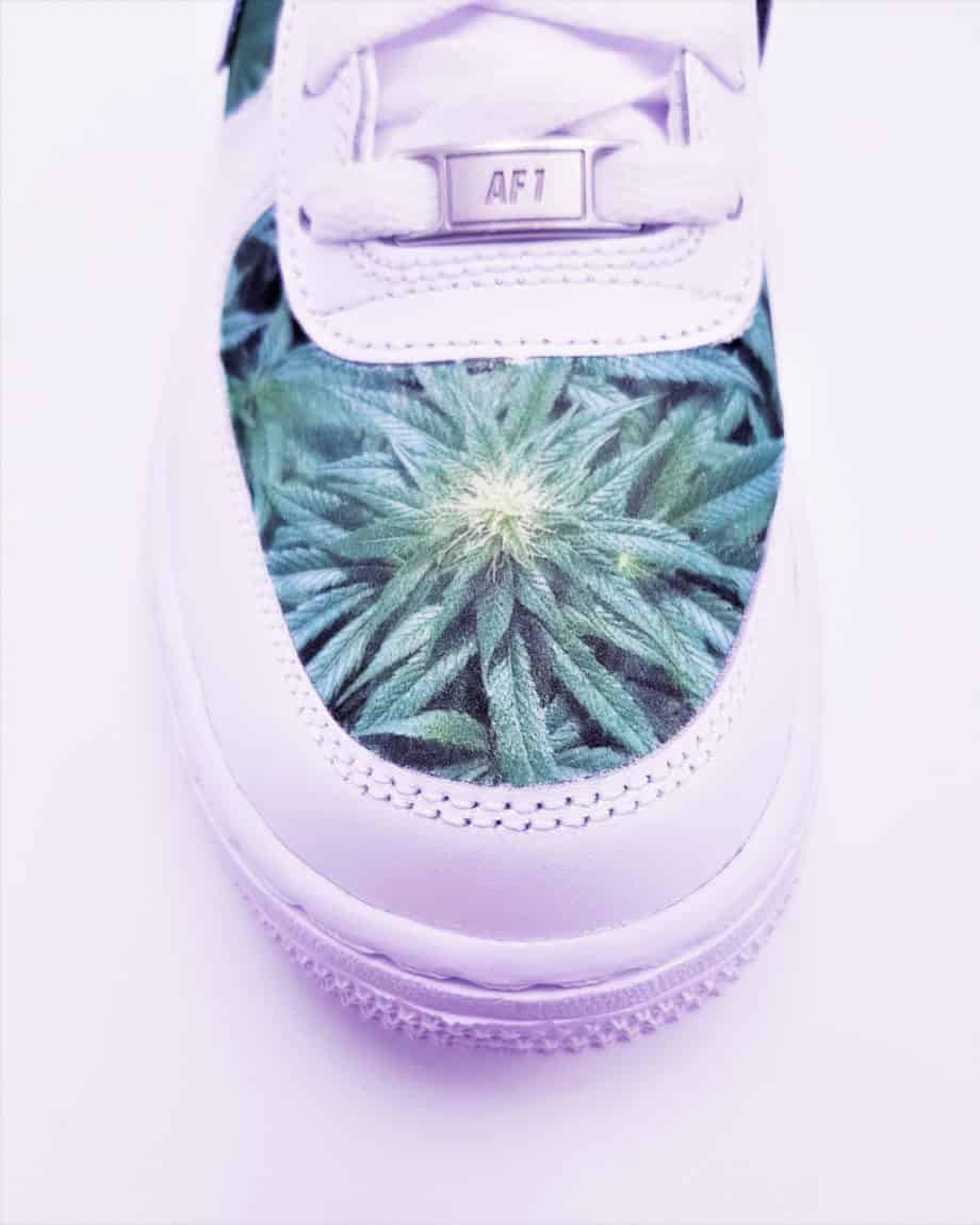 ATPIK presents the Nike Air Force 1 Weed, custom sneakers with cannabis herb.