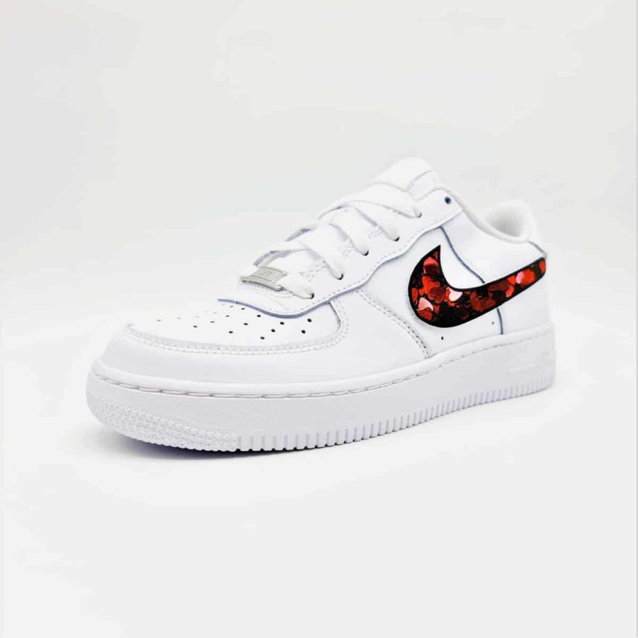 Les Nike Air Force 1 Custom Saint-Valentin, des Nike Air force 1 customisées par ATPIK pour la Saint-Valentin.